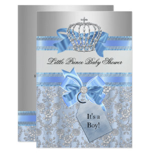 Little prince baby shower invitations zazzle blue little prince crown baby shower invitation filmwisefo