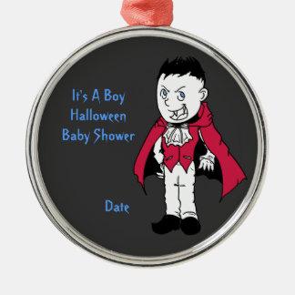 Blue Little Vampire Baby Shower Keepsake Ornament