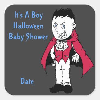 Blue Little Vampire Baby Shower Stickers