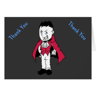 Blue Little Vampire Baby Shower Thank You Notes