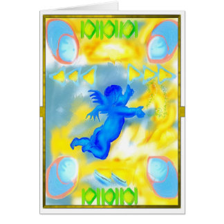 blue littlle aggel card