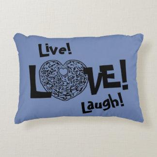 BLUE Live! Laugh! LOVE! Sweetie❤ Accent Pillow