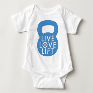 "Blue ""Live Love Lift!"" Baby Bodysuit"