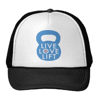 Blue Live Love Lift Trucker Hat