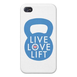 "Blue ""Live Love Lift!"" iPhone 4/4S Case"