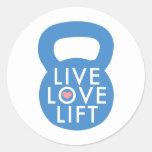 "Blue ""Live Love Lift!"" Sticker"