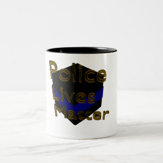 BLUE LIVES MATTER Two-Tone COFFEE MUG
