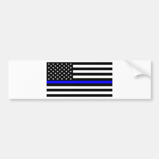 Blue Lives Matter - US Flag Police Thin Blue Line Bumper Sticker