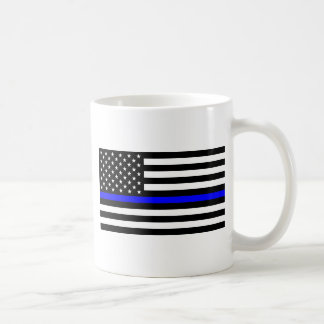 Blue Lives Matter - US Flag Police Thin Blue Line Coffee Mug