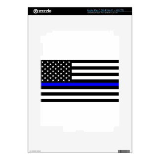 Blue Lives Matter - US Flag Police Thin Blue Line iPad 3 Decals