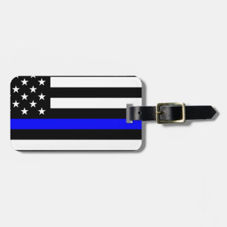 Blue Lives Matter - US Flag Police Thin Blue Line Luggage Tag