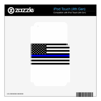 Blue Lives Matter - US Flag Police Thin Blue Line Skins For iPod Touch 4G