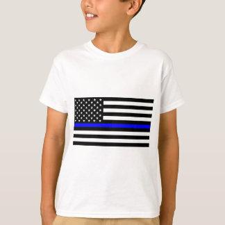 Blue Lives Matter - US Flag Police Thin Blue Line T-Shirt