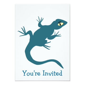 Blue Lizard Any Occasion 5x7 Paper Invitation Card