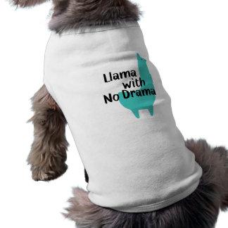 Blue Llama Dog T-Shirt