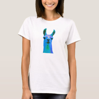 Blue Llama Graphic T-Shirt