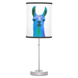 Blue Llama Graphic Table Lamp