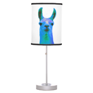 Blue Llama Graphic Table Lamp