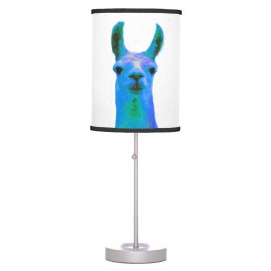 Blue Llama Graphic Table Lamp Zazzle Com