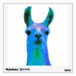 Blue Llama Graphic Wall Sticker<br><div class='desc'>Cute blue llama graphic design.</div>