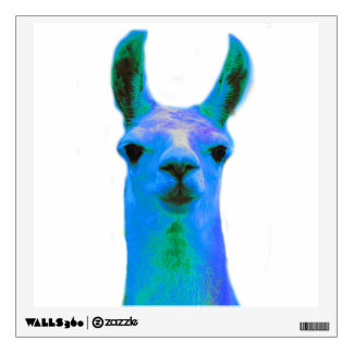 Blue Llama Graphic Wall Sticker