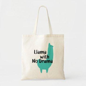 LlamaWithNoDrama Blue Llama Tote