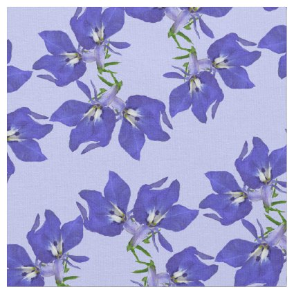 Blue Lobelia Flower Fabric