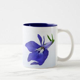 Blue Lobelia Two-Tone Coffee Mug