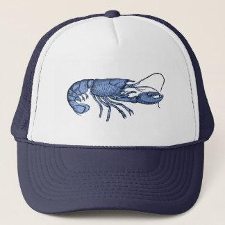Blue Lobster Baseball Hat with Retro Vintage Image