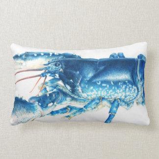 Blue lobster fine art lumber pillow