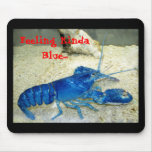 Blue Lobster Mouse Pads