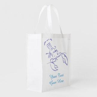 Blue Lobster Reusable Grocery Bag