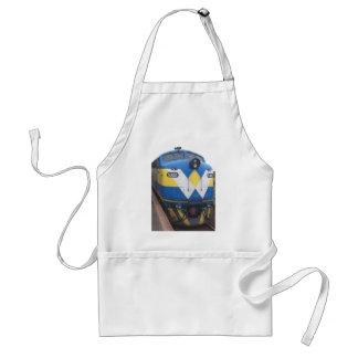 Blue locamotive engine adult apron
