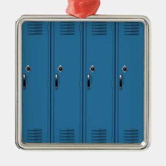 Blue Locker Doors Metal Ornament