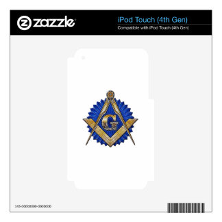 Blue Lodge Mason Decals For iPod Touch 4G