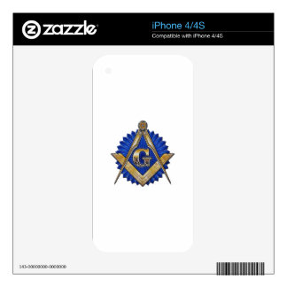 Blue Lodge Mason iPhone 4 Decal