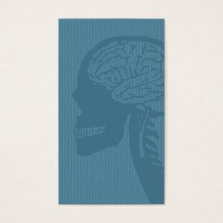 blue logicskull business card