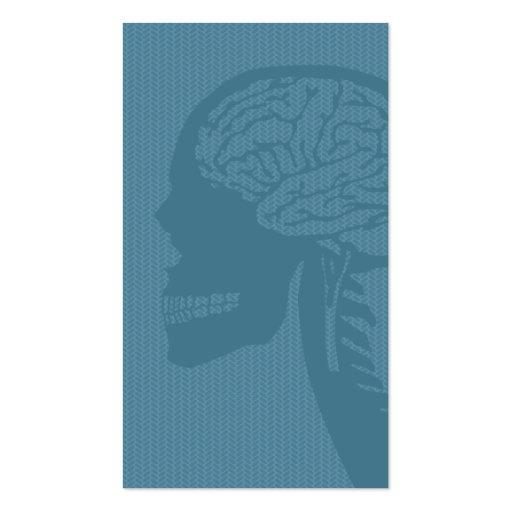 blue logicskull business cards