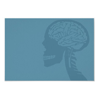 "blue logicskull 3.5"" x 5"" invitation card"