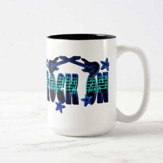 Blue Logo Rock On Guitars & Stars Mug