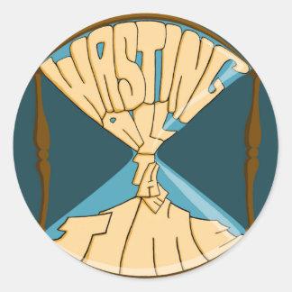 Blue Logo Stickers