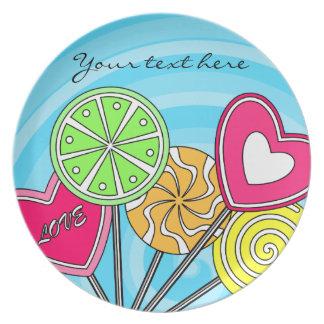 Blue lollipop Plate