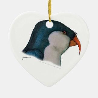 blue lorikeet parrot, tony fernandes ceramic ornament