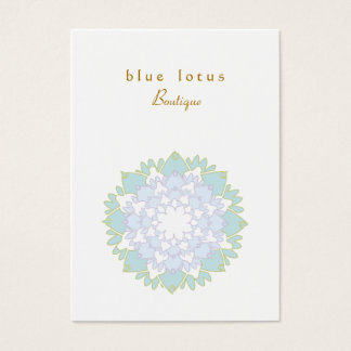 Eastern business cards templates zazzle blue lotus chubby business card reheart Image collections