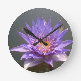 Blue Lotus Round Wallclocks