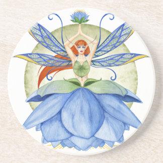 Blue Lotus Fairy Coaster