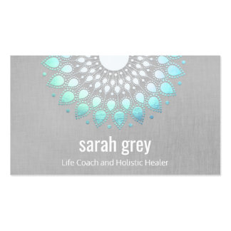 Blue Lotus Floral Holistic Health Appointment Business Card