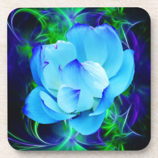 Blue lotus flower and its meaning drink coaster