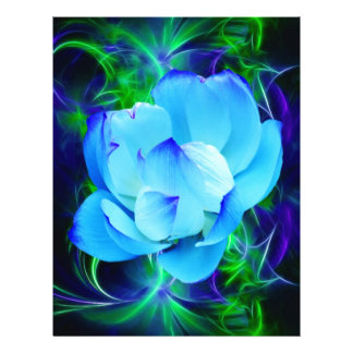 Blue lotus flower and its meaning customized letterhead