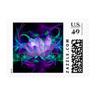 Blue lotus flower and its meaning postage